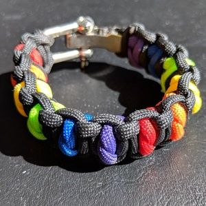 Other - LGBTQ Rainbow Braded Bracelet